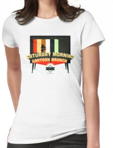 Saturday Morning Cartoon Brunch Womens Fitted T-Shirt