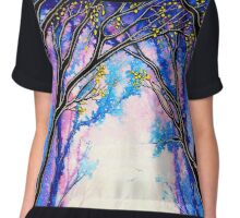 First Kiss - Trees Chiffon Top
