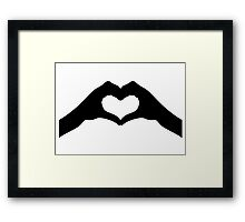 Love hands Framed Print