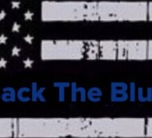 Back the blue flag Sticker