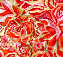 Red Roses Watercolor Sticker