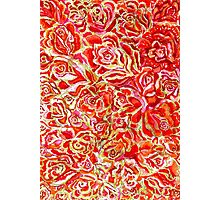 Red Roses Watercolor Photographic Print