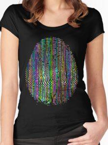 Digital Fingerprint Women's Fitted Scoop T-Shirt