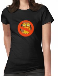 Ban owl. Womens Fitted T-Shirt