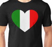 Italy Flag Heart Unisex T-Shirt