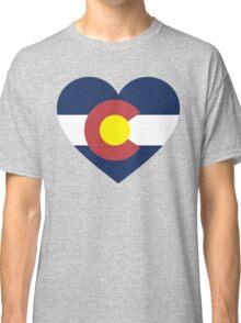 Colorado Flag Heart Classic T-Shirt