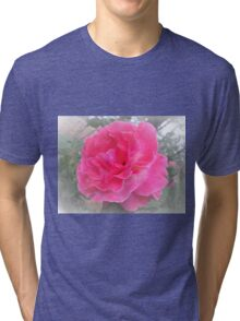 Bright Pink Rose Tri-blend T-Shirt