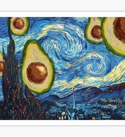 Starry Starry Avocado Sticker