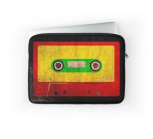 Reggae Flag Cassette Tape - Cool Grunge Reggae Music Design Laptop Sleeve