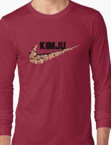 Kim Jong Un Faces - Nike Logo Long Sleeve T-Shirt