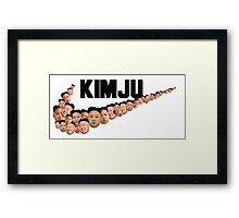 Kim Jong Un Faces - Nike Logo Framed Print