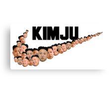 Kim Jong Un Faces - Nike Logo Canvas Print