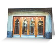 Manchester - Doors at The Plaza, Stockport Greeting Card