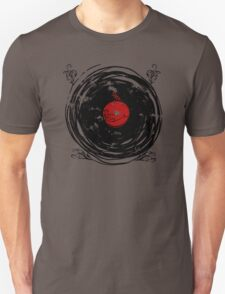 Enchanting Vinyl Records Vintage Twirls T Shirt Unisex T-Shirt