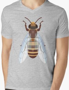 European Honeybee Mens V-Neck T-Shirt