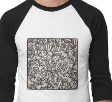 Floral freeform Men's Baseball ¾ T-Shirt
