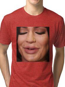 kylie jenner face Tri-blend T-Shirt