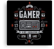 Classic Gamer Canvas Print