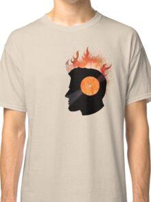 Burning with a Vinyl Record! Music DJ T Shirt and Prints Classic T-Shirt