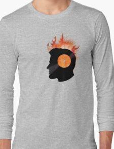 Burning with a Vinyl Record! Music DJ T Shirt and Prints Long Sleeve T-Shirt