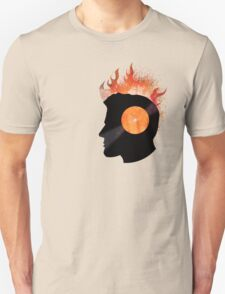 Burning with a Vinyl Record! Music DJ T Shirt and Prints T-Shirt