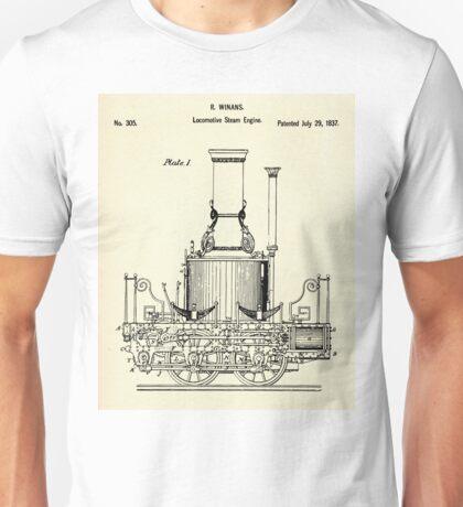 Locomotive Steam Engine-1837 Unisex T-Shirt