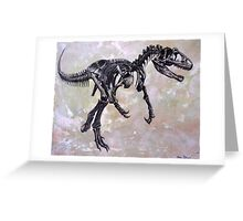 Allosaurus fragilis skeleton Greeting Card