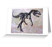 Allosaurus fragilis skeleton Greeting Card