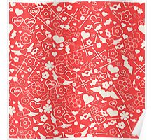 Valentine's Day Seamless Pattern. Background for decoration Poster