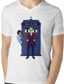 The Doctor and Bill Mens V-Neck T-Shirt