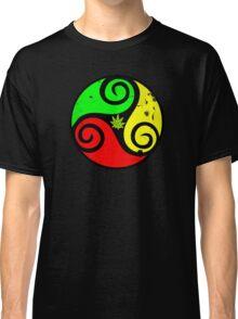 Grunge Reggae Love Vibes - Cool Weed Cannabis Reggae Rasta T-Shirt NoteBooks Stickers Classic T-Shirt