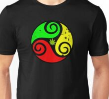 Grunge Reggae Love Vibes - Cool Weed Cannabis Reggae Rasta T-Shirt NoteBooks Stickers Unisex T-Shirt