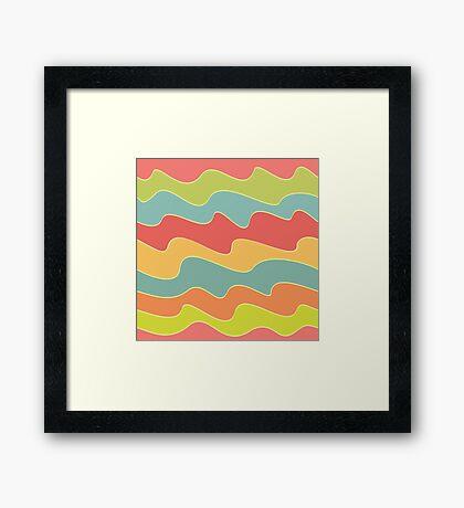 Funny colorful wave pattern Framed Print