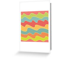 Funny colorful wave pattern Greeting Card