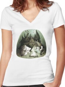 Scary Stories Women's Fitted V-Neck T-Shirt