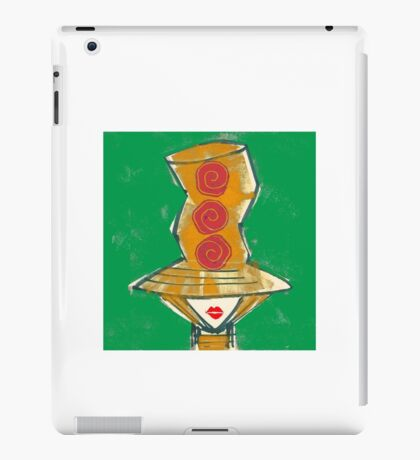 Big hat red lips 2 iPad Case/Skin