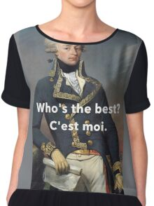 America's Favorite Fighting Frenchman Chiffon Top