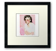 Matty Healy water color Framed Print