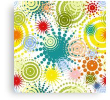 colorful abstract seamless pattern Canvas Print
