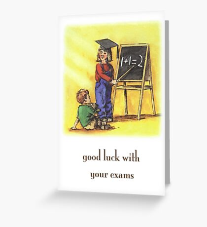 Good Luck With Your Exams Greeting Card