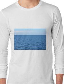 Calm blue sea and clear sky. Long Sleeve T-Shirt