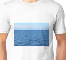 Calm blue sea and clear sky. Unisex T-Shirt
