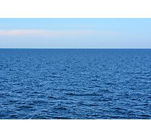 Calm blue sea and clear sky. Photographic Print