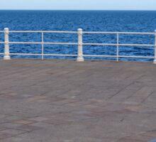 Promenade by the sea. Sticker