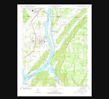 USGS TOPO Map Alabama AL Bridgeport 303333 1945 24000 Unisex T-Shirt