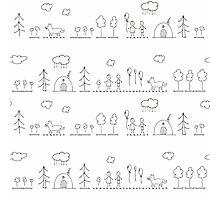 Doodle pattern Photographic Print