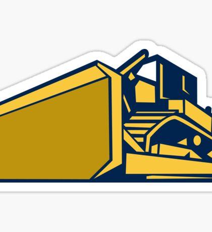 Bulldozer Low Angle Retro Sticker