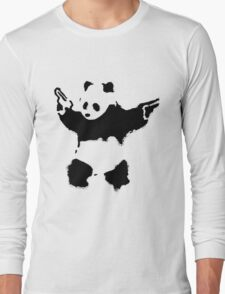 Banksy - Panda With Guns Long Sleeve T-Shirt