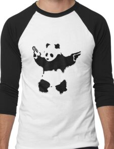 Banksy - Panda With Guns Men's Baseball ¾ T-Shirt