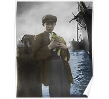 A sailor and his cat Poster